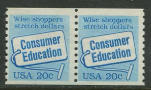 USA - Scott 2005 - Consumer Education - 1982 - MNG - Pair 2 X 20c Stamp