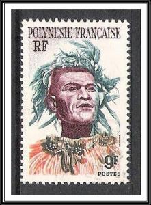 French Polynesia #188 Man With Headdress Used