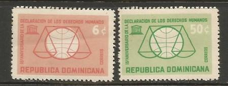 Dominican Republic 589-90 MOG UNESCO W514