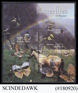 BHUTAN - 2003 BUTTERFLIES / INSECTS MIN/SHT MNH