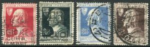 ITALY # 188 - 191 F-VF Used Set with CDS - DEATH ALESSANDRO VOLTA - S5708
