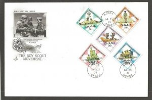 1973 Ghana Boy Scouts ovpt World Conference diamond FDC Artcraft