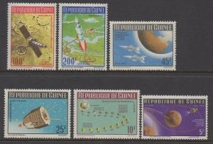 Guinea 1965 To the Moon Space Explore Astronomy Sciences Stamps MNH SC 401-404