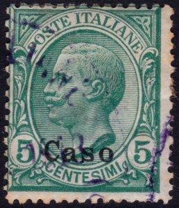 Italy 1912 - Eagean Islands Caso - Sc. 2 (o) Used - $7.00