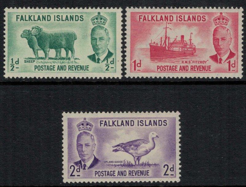 Falkland Is. #107-9*  CV $8.65