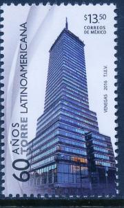 MEXICO 3008, $13.50P LATIN AMERICAN BUILDING, 60th ANNIV. MINT, NH. VF.