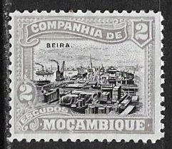 Mozambique Company ~ Scott # 114 ~  Unused ~ No Gum