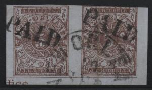 ~ CSA Scott #62X4 Pair Confederate Stamps, Nice Cancels, Paid & NO CDS Beauty  ~