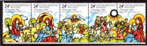 COCOS ISLAND 107 MH STRIP/5 SCV $1.50 BIN $0.75 RELIGION