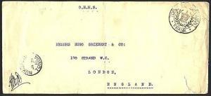 TONGA 1910 OHMS cover Nuku'alofa to London - Govt Frank....................93519