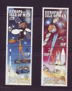 Isle of Man Sc 468-71 1991 Europa Space stamp set mint NH