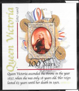 Dominica #2294  $6 Queen Victoria 100 years S/S (MNH)  CV $5.50