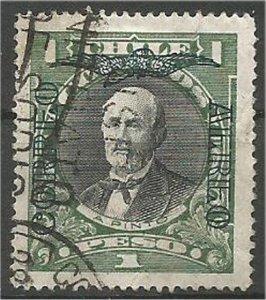 CHILE, 1911  used 1p, Balmaceda Scott 109