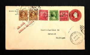 US Stamp Sc# 705, 709 pr, 717 on U429 Air Mail Special Delivery Cover Jun 7 1932