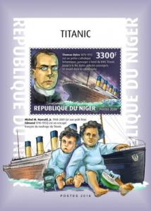 NIGER - 2018 - Titanic - Perf Souv Sheet - MNH