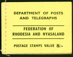 Rhodesia & Nyasaland 1955 5s Booklet SGSB1 Fine and Complete