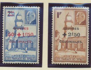 Somali Coast (Djibouti) Stamps Scott #B11 To B12, Mint Never Hinged - Free U....