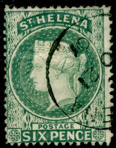 ST. HELENA SG44, 6d grey, FINE USED, CDS.