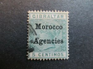A4P9F62 Morocco Agencies 1899 5c used