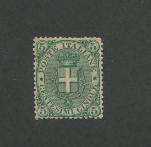 1891 Italy Arms of Savoy 5c Postage Stamp #67 Mint OG CV $500
