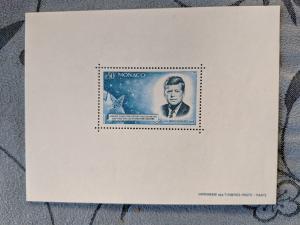 Monaco 596 var. - Kennedy with Mercury Capsule - XFNH, CV $460