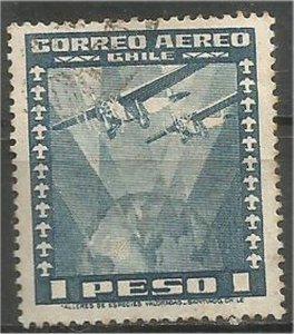 CHILE, 1935  used 1p ,Airplane Scott C39