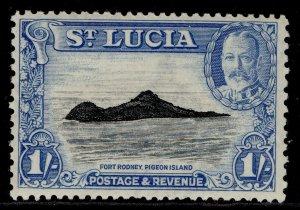 ST. LUCIA GVI SG121, 1s black & light blue, M MINT.