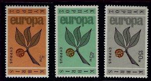 Cyprus SC#262-264 MNH VF SCV$25.50...Worth a Close Look!