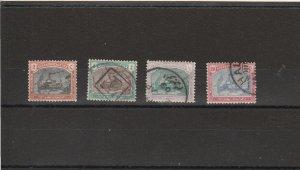 Sudan  Scott#  J5-J8  Used  (1901 Postage Due)