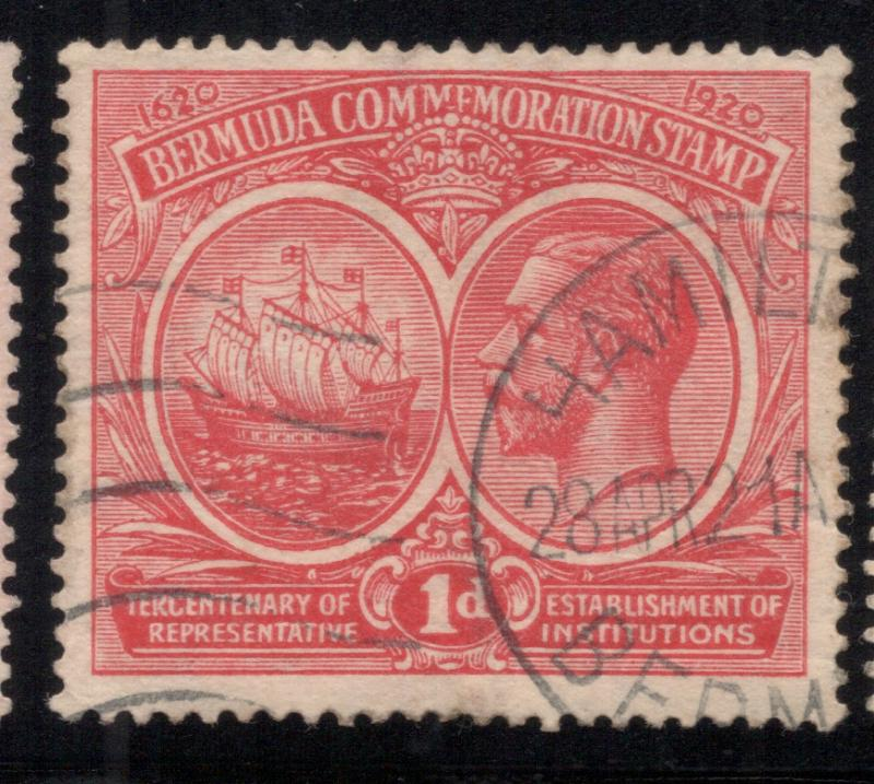 Bermuda #67 Rose Red - Hamilton Cancel