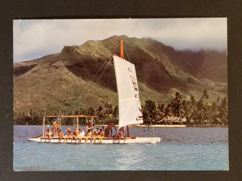 1973 Papeete Tahiti Culver City California Liki Tiki Real Photo Postcard Cover