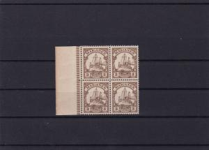 German Colonies  Mariana 1901 Yacht Type mint never hinged stamps block  R20951