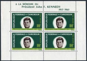 Cameroun C52a sheet,lightly hinged.Michel Bl.3. President John F.Kennedy,1964.