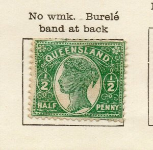 Queensland 1896 Early Issue Fine Mint Hinged 1/2d. NW-113701