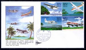 Palau C13a Airplanes Gill Craft U/A FDC