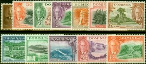 Dominica 1951 Set of 12 to 48c SG120-131 Fine Mtd Mint