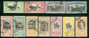 Romania Scott # 196 - 206, overprint SE, used