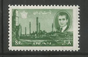 IRAN 1380,  HINGED, SHAH