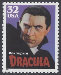 #3169 32c Dracula 1997 Mint NH