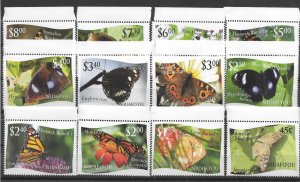 NIUAFO'OU MNH SET SC#275-286 BUTTERFLIES SCV$54.00 VERY NICE SET LOOK