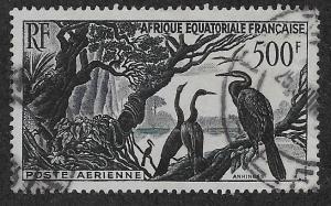 FRENCH EQUATORIAL AFRICA SC# C37  VF/U    1953