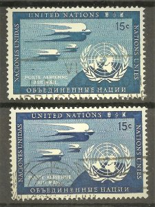 United Nations (New York) 1951, Mi 14a + 14b, used