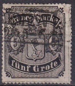 Bremen #6 F-VF Used CV $225.00  (Z7626)