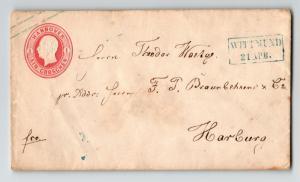 Hanover Early Stationery Cover to Hamburg / Wittmund Cancel - Z13254