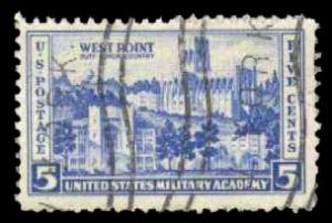 US #789 Military Academy at West Point, used (0.25)