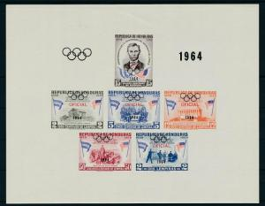 [19248] Honduras 1964 Abraham Lincoln Olympic Games OVP OFICIAL Imperf. S/S MNH