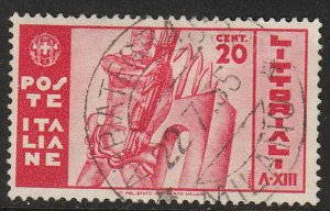 Stamp Italy SC 342 1935 Man Holding Fasces University Contests Honor Used
