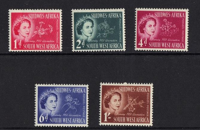South West Africa 1953 MNH/MH coronation complete