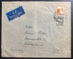 1938 Haifa Palestine Airmail cover To Germany