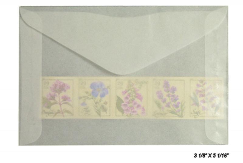 100 count - Glassine Envelopes #4 1/2 - ACID FREE - size 3 1/8 x 5 1/16 - NEW